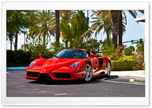 Red Ferrari Enzo Supercar HD Wide Wallpaper for 4K UHD Widescreen desktop & smartphone