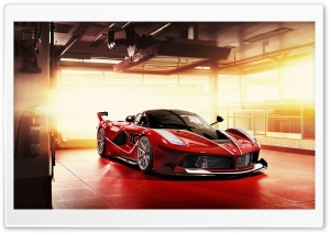 Red Ferrari FXX K Supercar HD Wide Wallpaper for 4K UHD Widescreen desktop & smartphone