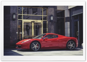 Red Ferrari Italia HD Wide Wallpaper for Widescreen