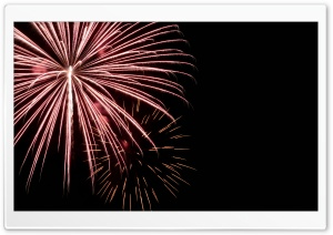 Red Fireworks HD Wide Wallpaper for Widescreen