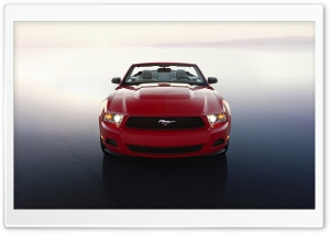 Red Ford Mustang HD Wide Wallpaper for Widescreen