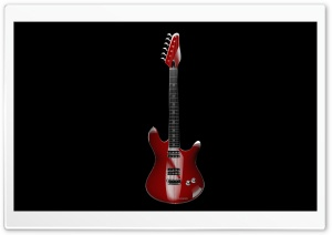 RED GUITAR HD Wide Wallpaper for Widescreen