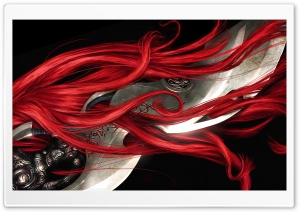 Red Hair - Heavenly Sword HD Wide Wallpaper for Widescreen