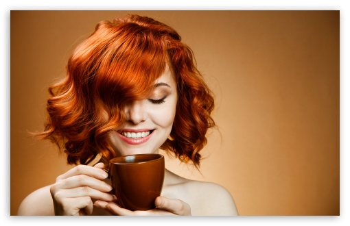 Red Haired Woman Drinking Coffee UltraHD Wallpaper for Wide 16:10 5:3 Widescreen WHXGA WQXGA WUXGA WXGA WGA ; 8K UHD TV 16:9 Ultra High Definition 2160p 1440p 1080p 900p 720p ; Standard 4:3 5:4 3:2 Fullscreen UXGA XGA SVGA QSXGA SXGA DVGA HVGA HQVGA ( Apple PowerBook G4 iPhone 4 3G 3GS iPod Touch ) ; Tablet 1:1 ; iPad 1/2/Mini ; Mobile 4:3 5:3 3:2 5:4 - UXGA XGA SVGA WGA DVGA HVGA HQVGA ( Apple PowerBook G4 iPhone 4 3G 3GS iPod Touch ) QSXGA SXGA ;