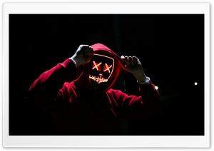Red Hoodie Man Night HD Wide Wallpaper for 4K UHD Widescreen desktop & smartphone