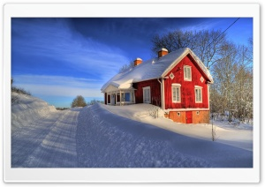 Red House, Winter HD Wide Wallpaper for Widescreen