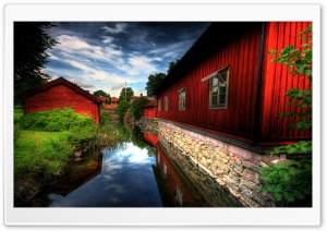 Red Houses HD Wide Wallpaper for Widescreen