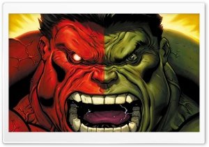 Red Hulk vs Green Hulk HD Wide Wallpaper for 4K UHD Widescreen desktop & smartphone
