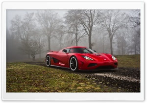 Red Koenigsegg HD Wide Wallpaper for Widescreen