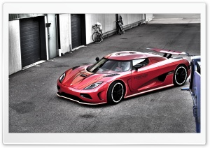 Red Koenigsegg HDR HD Wide Wallpaper for Widescreen
