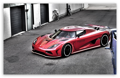Download Red Koenigsegg HDR UltraHD Wallpaper