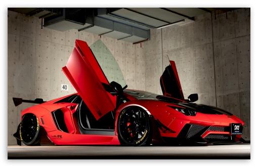 Download Red Lamborghini Aventador Limited Edition... UltraHD Wallpaper