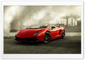 Red Lamborghini Gallardo HD Wide Wallpaper for Widescreen
