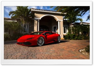 Red Lamborghini Huracan Florida HD Wide Wallpaper for 4K UHD Widescreen desktop & smartphone