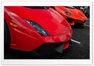 Red Lamborghinis HD Wide Wallpaper for 4K UHD Widescreen desktop & smartphone