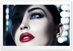 Red Lips and Smoky Eyes HD Wide Wallpaper for Widescreen