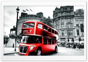 Red London Bus HD Wide Wallpaper for 4K UHD Widescreen desktop & smartphone