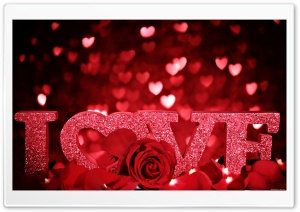 Red Love Background HD Wide Wallpaper for Widescreen