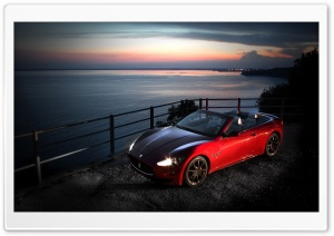 Red Maserati Gancabrio HD Wide Wallpaper for Widescreen