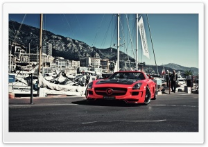 Red Mercedes-Benz SLS AMG HD Wide Wallpaper for 4K UHD Widescreen desktop & smartphone