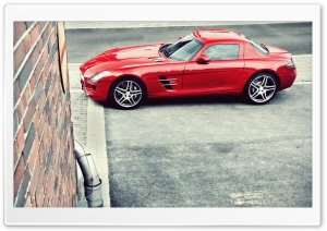 Red Mercedes Benz SLS AMG HD Wide Wallpaper for 4K UHD Widescreen desktop & smartphone