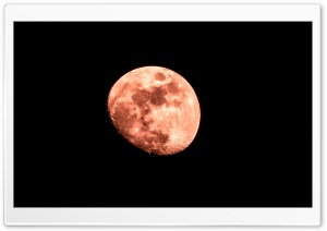 Red Moon HD Wide Wallpaper for Widescreen
