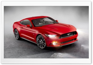 Red Mustang HD Wide Wallpaper for Widescreen