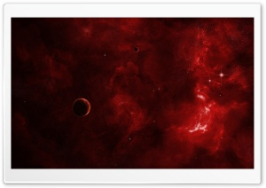 Red Nebula HD Wide Wallpaper for Widescreen