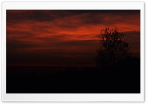 Red November Evening HD Wide Wallpaper for Widescreen