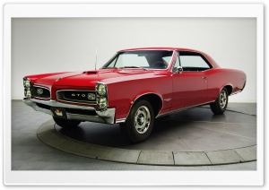 Red Pontiac GTO 1966 HD Wide Wallpaper for 4K UHD Widescreen desktop & smartphone