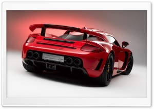 Red Porsche Carrera GT HD Wide Wallpaper for Widescreen
