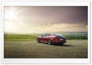 Red Porsche Panamera HD Wide Wallpaper for Widescreen