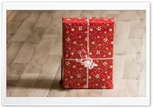 Red Present Box HD Wide Wallpaper for Widescreen