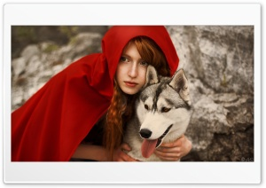 Red Riding Hood and Wolf HD Wide Wallpaper for Widescreen