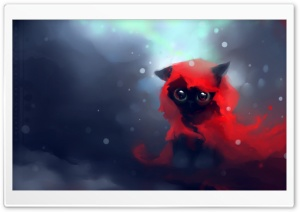 Red Riding Hood Cat HD Wide Wallpaper for Widescreen