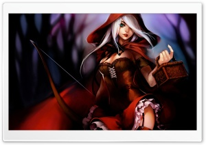 Red Riding Hood Illustration HD Wide Wallpaper for Widescreen
