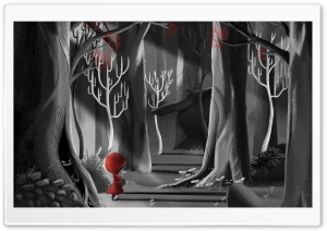 Red Riding Hood Painting HD Wide Wallpaper for Widescreen