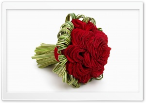Red Rose Bridal Bouquet HD Wide Wallpaper for Widescreen