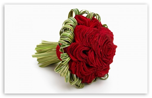 Red Rose Bridal Bouquet HD wallpaper for Standard 4:3 5:4 Fullscreen ...