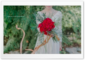 Red Roses Wedding Bouquet HD Wide Wallpaper for Widescreen