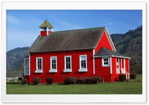 Red Schoolhouse, Northern California HD Wide Wallpaper for Widescreen