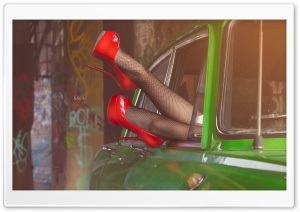 Red Shoes HD Wide Wallpaper for 4K UHD Widescreen desktop & smartphone