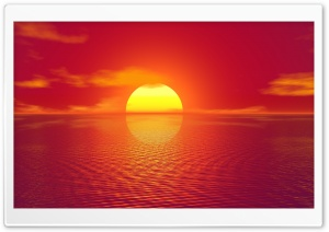 Red Sky, Sunset HD Wide Wallpaper for Widescreen
