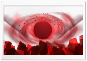 Red Sphere HD Wide Wallpaper for Widescreen