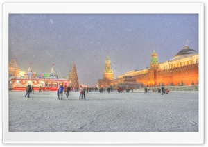 Red Square Moscow Russia Winter Holidays HD Wide Wallpaper for Widescreen