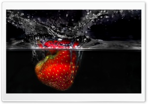 Red Strawberry HD Wide Wallpaper for Widescreen