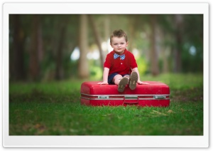 Red Suitcase HD Wide Wallpaper for Widescreen