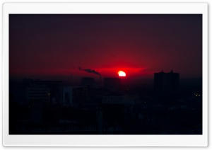 Red Sunrise HD Wide Wallpaper for Widescreen