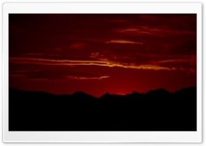 Red Sunset HD Wide Wallpaper for Widescreen