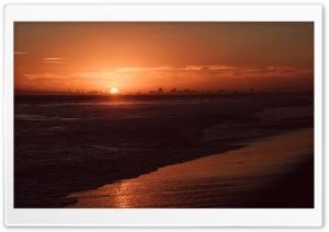 Red Sunset, Bolsa Chica State Beach, California Ultra HD Wallpaper for 4K UHD Widescreen desktop, tablet & smartphone